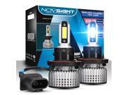 NOVSIGHT H13/9008 Hi/Lo Beam LED Headlight Bulbs 72W(36Wx2) Hight Power 10000LM(5000LMx2) Super Bright 6000K White - 2 Year Warranty