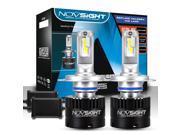 NOVSIGHT 80W Super Bright 14400LM H4 Hi/Lo Led Headlight Bulbs Conversion Kits 5500K H4 Hi/Lo (HB2- 9003) Led Car Driving Light Headlamp for Car Truck Replaceme
