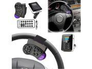 Bluetooth Handsfree Car Kit MP3 Player FM Transmitter Steering Wheel