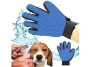 Pet Dog Cat Brush Glove Mitt Deshedding Glove for Gentle Pet Grooming Massage Bathing Brush Comb For Long and Short Hair (Color: Blue) 9SIADBY5ND2966