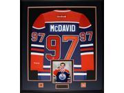 Connor McDavid Edmonton Oilers signed jersey frame 9SIADC26DU2638