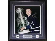Johnny Bower Toronto Maple Leafs Signed 16x20 Frame 9SIADC26DU2646
