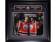 Connor McDavid & Wayne Gretzky Edmonton Oilers Rexall Place Final Game 16x20 frame 9SIADC26DU1808