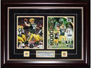 Aaron Rodgers Green Bay Packers signed 2 photo frame 9SIADC26DU2518