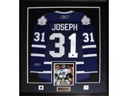 Curtis Joseph Toronto Maple Leafs signed jersey frame 9SIADC26DU4119