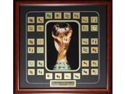 FIFA 2014 World Cup Final 32 Team Pins Soccer frame 9SIADC26DU2524