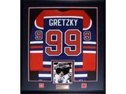 Wayne Gretzky Edmonton Oilers Signed jersey frame (blue and orange) 9SIADC26DU4148