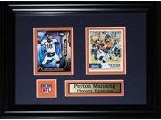 Peyton Manning Denver Broncos 2 card frame 9SIADC26DU2038