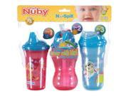 Nuby No-Spill 3-Step Grow with Me 9-oz Cup Combo - 3 Pack Blue One Size