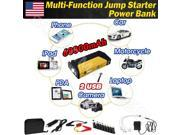 600A 12V 68800mAh 2 USB Car Jump Starter Emergency Mobile PC Charger Power Bank