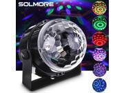 SOLMORE Mini Rotating LED RGB Magic Crystal Ball Effect Stage Light Disco DJ KTV Party Laser Light Lighting 9SIADF45R62417