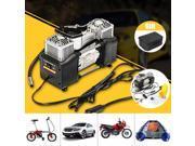 150PSI 60L 12V Air Compressor 4WD Car Tire Inflator Portable Kit Pressure Pump