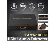 1080P HDMI to HDMI Optical + SPDIF + RCA L/R Extractor Converter Audio Splitter 9SIADF45WH1629