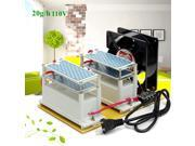 20g 110V Ozone Generator + Fan Ozone Disinfection Machine Long Life Air Purifier Tool 9SIADF45ZC8082