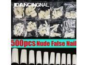 DANCINGNAIL 500pcs Salon Nude French Acrylic UV Gel False Half Nail Art Tips DIY Decorration 9SIADF45ZG0926