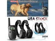 Rechargeable and Waterproof LCD 100LV Level Shock Remote 2 Dog Training Collar 9SIADF46R05719