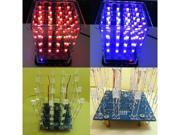 New Colorful 4*4*4 3D LightSquared White Blue&Red Ray LED 3D LED Cube DIY Kit 9SIV1405YJ7482