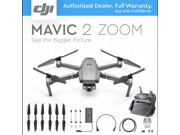 DJI Mavic 2 Zoom Drone Quadcopter Camera with two-times optical zoom (24mm – 48mm) Simple Bundle, Free Landing Pad