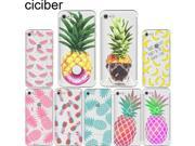Summer fruit pineapple watermelon banana lemon Soft silicon phone Cases Cover for IPhone 6 6S 7 Plus 5S SE Capinha Coque Fundas 9SIADJT67T7293