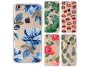 EKONE Phone Case For iPhone 6 6S Plus Case Flower Plants Cactus Leaves Flamingo Pineapple Silicone Cover For iPhone 6 Plus Case 9SIADJT67T5836