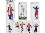 Soccer Cartoon Cristiano Ronaldo messi Neymar soft silicone phone cases cover for iphone 6 6S 7 plus 5S SE Capinha Coque fundas 9SIADJT67T6235