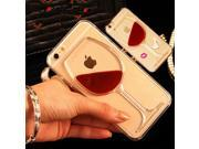 LOVECOM For iPhone 5 5S SE 5C 6 6S 7 Plus Mobile Phone Case Red Wine Liquid Quicksand Transparent Clear Hard Back Cover Shell 9SIADJT67T6853