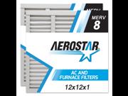 12x12x1 AC and Furnace Air Filter by Aerostar - MERV 8, Box of 2 9SIADKE5UE4219