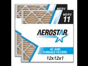 12x12x1 AC and Furnace Air Filter by Aerostar - MERV 11, Box of 2 9SIADKE5UE4218
