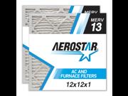 12x12x1 AC and Furnace Air Filter by Aerostar - MERV 13, Box of 2 9SIADKE5UE4220