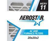 Aerostar 20x20x2 MERV  11, Pleated Air Filter, 20x20x2, Box of 4, Made in the USA 9SIADKE7559585