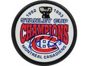 Patrick Roy Montreal Canadiens Signed 1993 Stanley Cup Champions Puck (AJ Sports Auth) 9SIADKS5KS2083