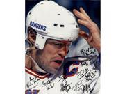 1994 New York Rangers Multi Signed and Inscribed Mark Messier Blood 16x20 Metallic Photo (Signed in Black ) (12 Sigs) 9SIADKS5KK8875