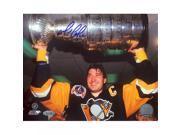 Mario Lemieux Stanley Cup Overhead Horizontal 16x20 Photo (Signed in Blue) 9SIADKS5KS0649
