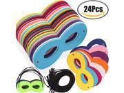 24 Pcs Superhero Masks Super Masks Halloween Mask Super Hero Cosplay Party Eye Masks Felt Masks with Elastic Rope for Kids Party, Multicolor 9SIADNM69N6497
