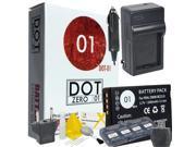 DOT-01 Brand Panasonic DMC-FH3 Battery and Charger for Panasonic DMC-FH3 Camera and Panasonic FH3 Accessory Bundle for Panasonic BCG10 DMW-BCG10