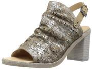Naughty Monkey Womens Nyxx Leather Open Toe Special Occasion, Nude, Size 7.0 9SIADSM6YA2128