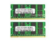 4GB 2x2GB PC2-5300 DDR2-667 667MHz DDR2 200PIN Laptop Memory MacBook Pro 3,1