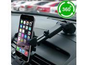 360  Car Windshield Dashboard Suction Cup Mount Holder Cradle For Cell Phone GPS (Color: Black) 9SIADT868J1461