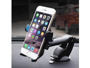 Universal Dual Purpose Suction/Air Vent Car Mount Holder for Cell Phone (Color: Black) 9SIADT868J1450