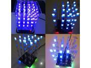 1Pcs New 4*4*4 3D LED LightSquared White Blue Ray Cube DIY Kit 9SIADU75TV7570
