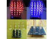 New Colorful 4*4*4 3D LightSquared White Blue&Red Ray LED 3D LED Cube DIY Kit 9SIADU75TV8000