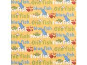 Trend Lab Dr. Seuss One Fish, Two Fish Titles Fitted Crib Sheet, Red/Green/Blue