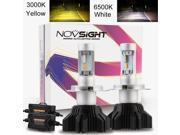 ESTONE Led Headlight Bulb- H4/9003/HB2 Hi/Lo Beam Super Bright Dual Color IP68 Waterproof Yellow & White Led Bulbs-3 Yr Warranty
