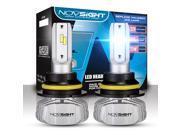 NOVSIGHT 9007(HB5) Hi/Lo LED Headlight Bulbs w/Arc-Beam - 50w 10-000Lm 6.5K Cool White With SEOUL CSP Y19 LED Chips - 2 Yr Warranty