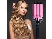 Fast Heat Curling Iron Electric 3 Barrels Curling Iron Thermoregulator Rizadores Wand curler roller 38mm triple hair waver 9SIAE1B6YP8470