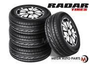 4 X New Radar RPX800 225/60R16 98H 520AA M+S All Season High Performance Tires