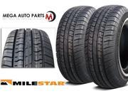 2 X New Milestar MS75 P185/75R14 89S White Side Wall All Season Touring Tires