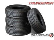 4 X New Thunderer R501 ST215/75R14 102L C Long Mileage All Season Trailer Tires