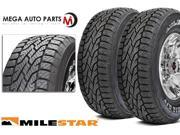 2 X New Milestar Patagonia A/T 245/65R17 107T All Terrain High Performance Tires