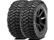 2X Mickey Thompson Baja MTZ P3 37X13.50R18 124Q D BLK All Terrain Mud Tires